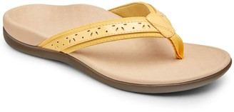 Vionic Leather Thong Sandals - Casandra