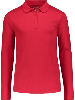 Chaps Girls 7-16 Long-Sleeve Picot Polo