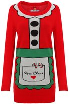 ChristmasShop Christmas Shop Womens/Ladies Mrs Claus Knitted Santa Dress