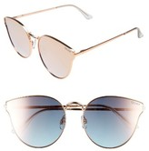 Quay Women's 'All My Love' 60Mm Retro Sunglasses - Gold/ Blue