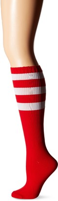 Music Legs Women's Acrylic Knee Hi with Striped Top