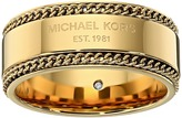 Michael Kors Logo Plaque Band Ring