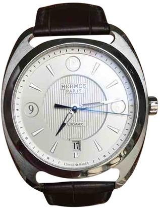 Hermes Dressage Silver Steel Watches