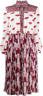 Prada Lips And Lipstick Printed Dress