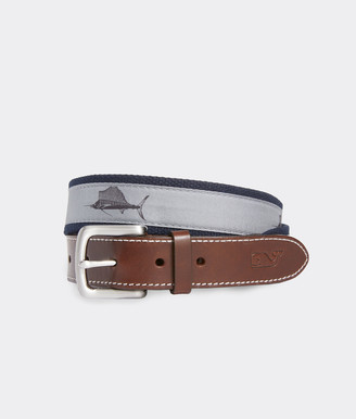 Vineyard Vines Sailfish Icon Canvas Club Belt