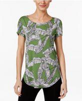 Alfani Petite Printed Shirttail T-Shirt, Only At Macy's