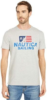 Nautica Tee Colored Flag (Heather Grey) Men's Clothing