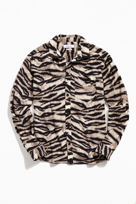 Urban Outfitters Animal Print Flannel Button-Down Shirt