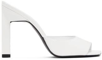 ATTICO White Patent Heeled Sandals