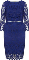 ABS by Allen Schwartz Plus Size Lace pencil dress