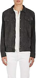Barneys New York Lot 78 x LOT 78 X MEN'S SUEDE SHIRT JACKET-DARK GRAY SIZE 54
