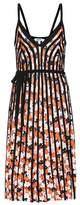 Kenzo Striped floral-printed dress