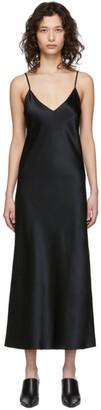 Joseph Black Silk Satin Dress