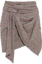 Isabel Marant Kim Wrap-effect Tweed Mini Skirt - Gray