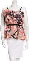 Dolce & Gabbana Printed Ruched Top