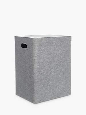 House by John Lewis Felt Laundry Basket, Grey