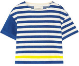 Solid and Striped The Tee Striped Cotton-Blend Terry Top