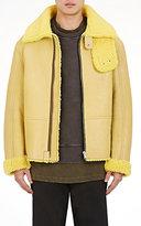 Yeezy Men's Oversized Shearling Jacket-YELLOW