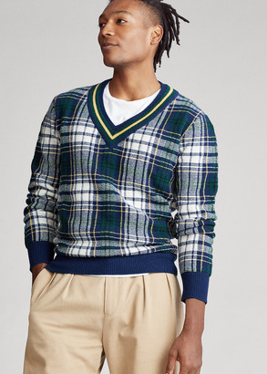 Ralph Lauren Tartan Wool Cricket Sweater