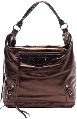 Balenciaga Day Metallic Leather Handbags