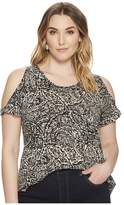 Lucky Brand Plus Size Paisley Printed Tee Women's T Shirt