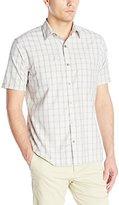 Van Heusen Men's Short-Sleeve Traveler Plaid Shirt