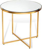 Interlude Marissa Gold-Leaf Side Table