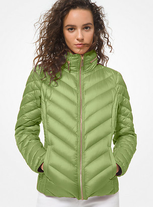 MICHAEL Michael Kors MK Quilted Nylon Packable Puffer Jacket - Ivy - Michael Kors