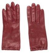 Loro Piana Burgundy Leather Gloves