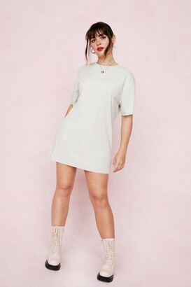 Nasty Gal Womens It's All About Tee Plus Ribbed Dress - Sage