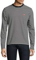 Ami Striped Crewneck Tee
