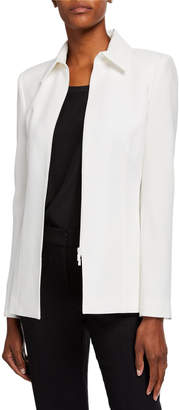 Lafayette 148 New York Aretha Finesse Crepe Zip-Front Jacket