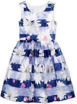 Bonnie Jean Floral-Print Fit & Flare Party Dress, Toddler & Little Girls (2T-6X)