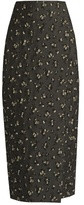 Brock Collection Sage floral-jacquard pencil midi skirt