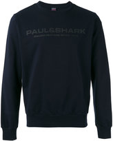 Paul & Shark logo print sweatshirt - men - Cotton - M