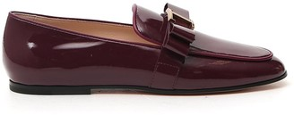 Tod's Logo Bow Loafers