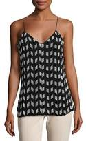 Cushnie et Ochs Beaded Chiffon Tank Top, Black/White