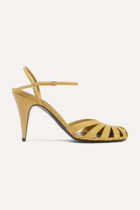 The Row Tango Cutout Leather Sandals - Marigold