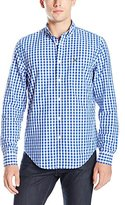 Lacoste Men's Seg 1 Long Sleeve Gingham Check