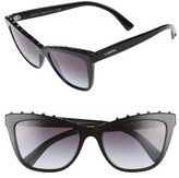 Valentino Women's Rockstud 54Mm Cat Eye Sunglasses - Black/ Gradient