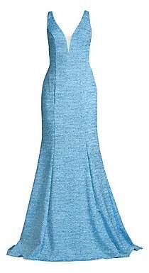 Jovani Women's Glitter Side Cutout Mermaid Gown
