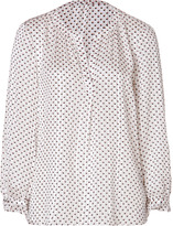 Marc by Marc Jacobs Silk Minetta Print Top in Antique White Multi