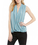 O'Neill Noah Striped Wrap Front Top