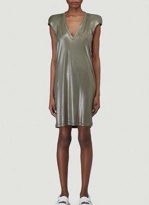 Rick Owens V Neck Mini Dress