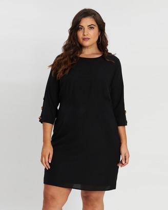 Atmos & Here Janie Button Sleeve Dress
