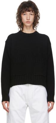 Studio Nicholson Black Wool Nieto Cropped Sweater
