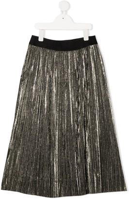 Karl Lagerfeld Paris Pleated Lame Skirt
