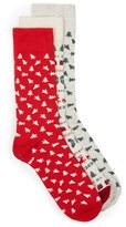 Topman Men's Christmas Tree 3-Pack Socks