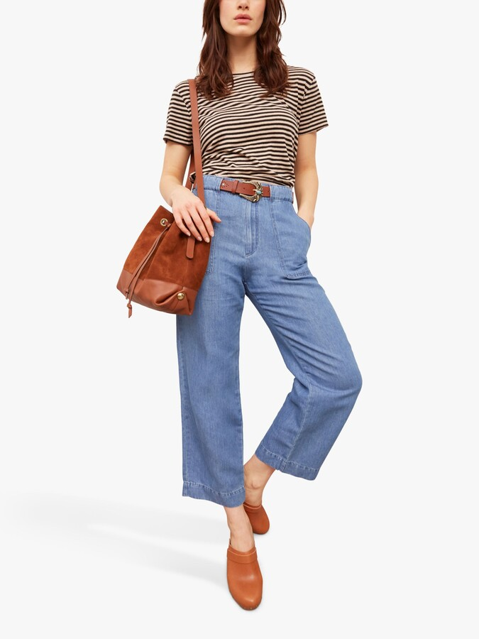 Thumbnail for your product : Gerard Darel Mae Wide Leg 7/8 Jeans, Blue