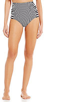 Gianni Bini Striped Hi-Waist Bottom